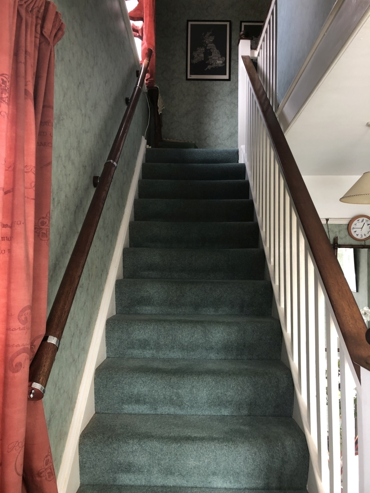 added banister rail